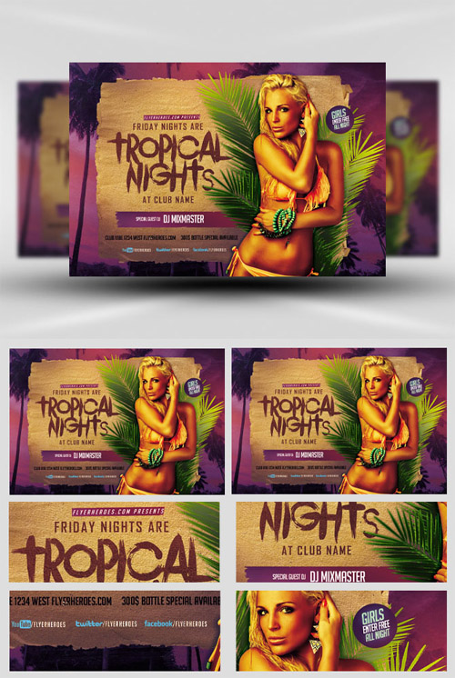 Flyer Template - Tropical Nights
