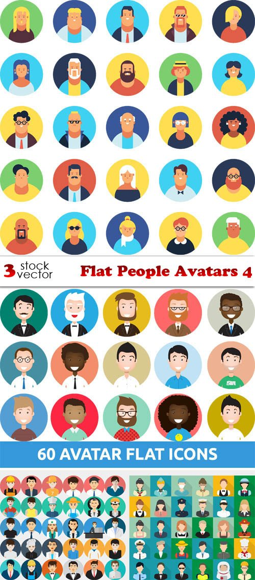 Vectors - Flat People Avatars 4