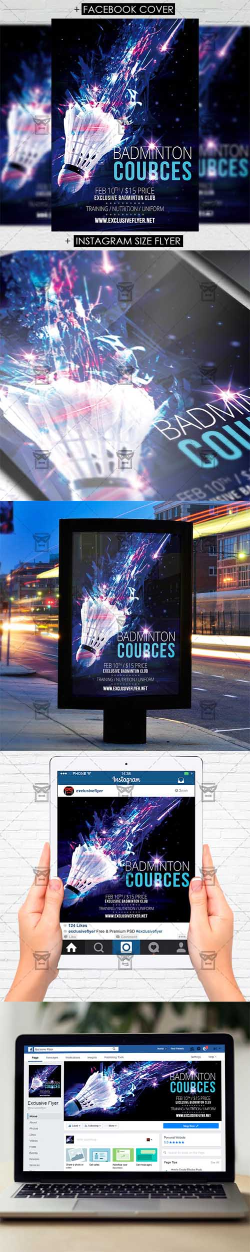Flyer Template - Badminton Cources