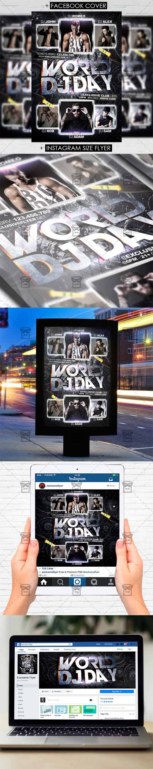 Flyer Template - World DJ Day