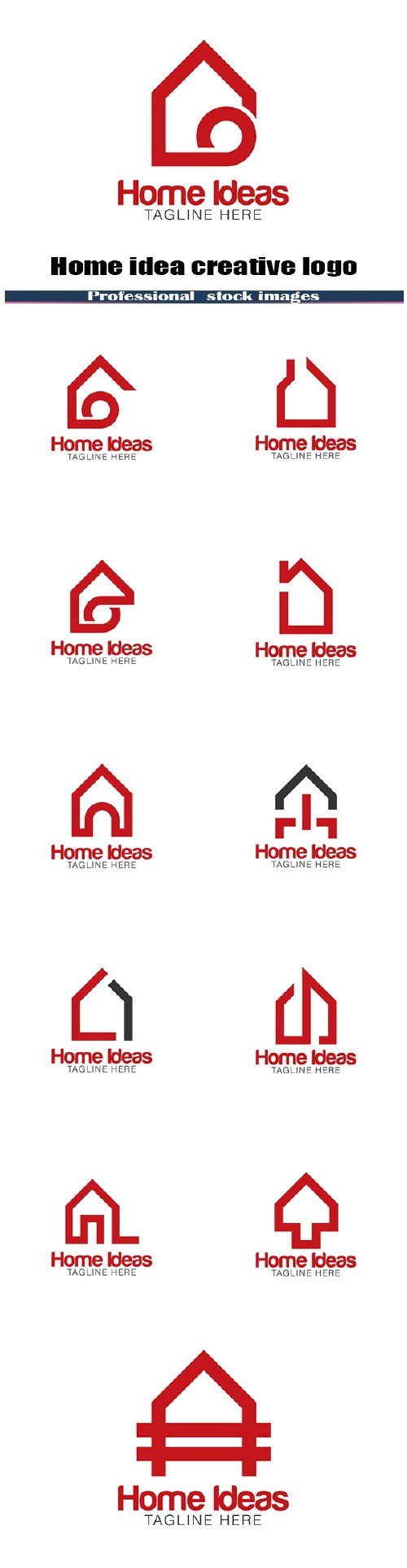 Home idea creative logo