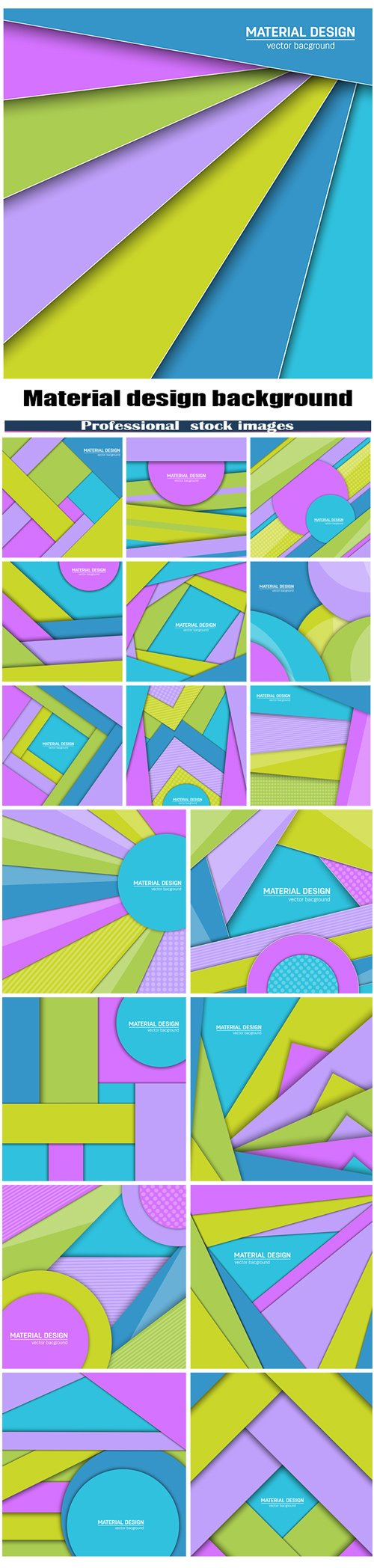 Vector material design background