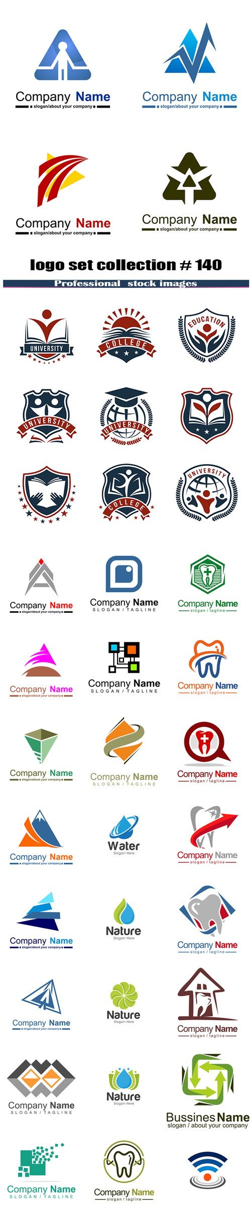 logo set collection # 140