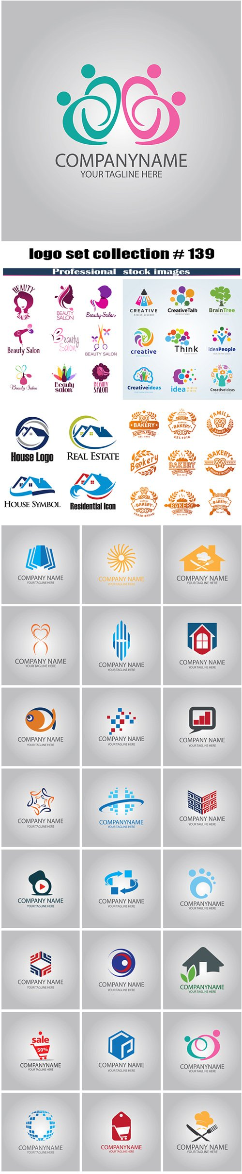 logo set collection # 139