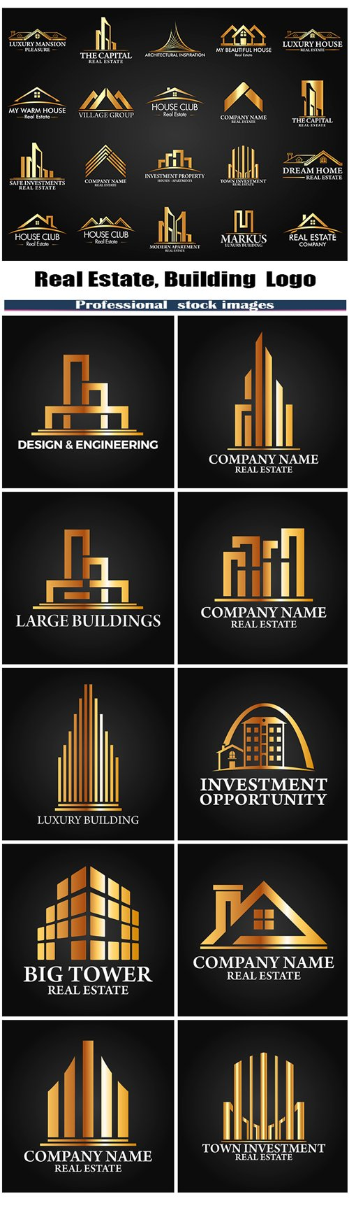 Real Estate,Building and Investment Logo #2