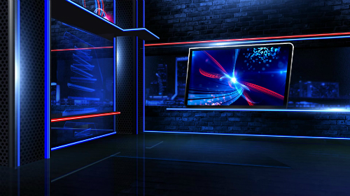 Virtual Newsroom Neon Wide