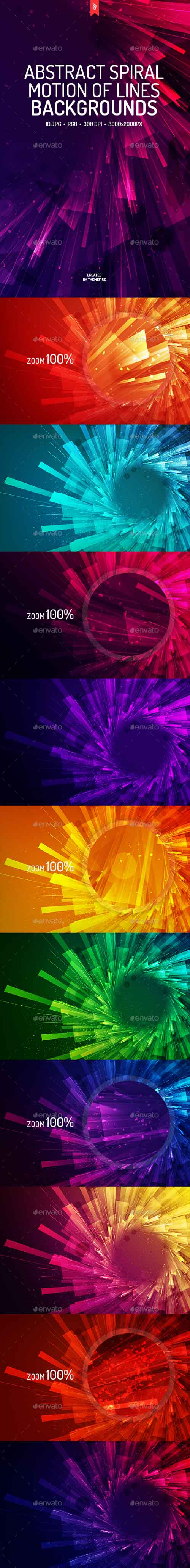 Spiral Motion of Lines Backgrounds 19427905