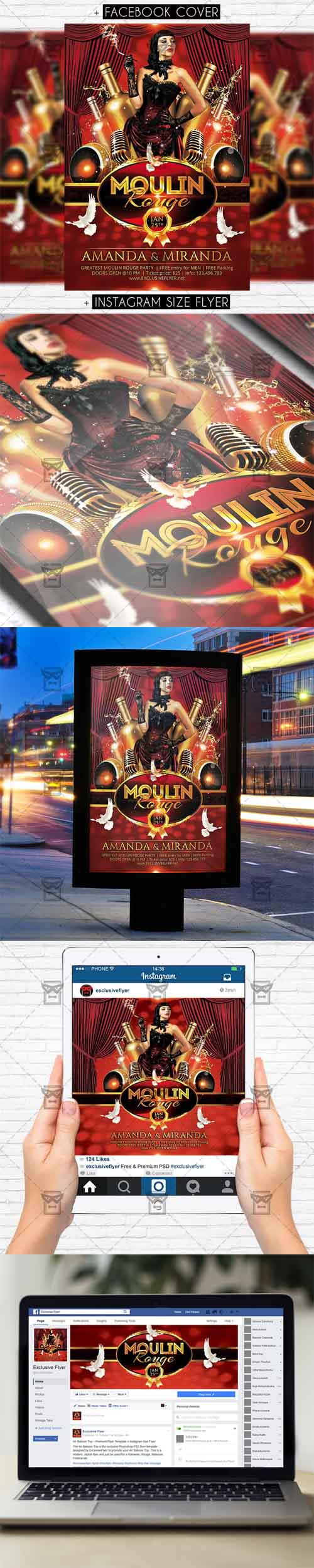 Flyer Template - Moulin Rouge