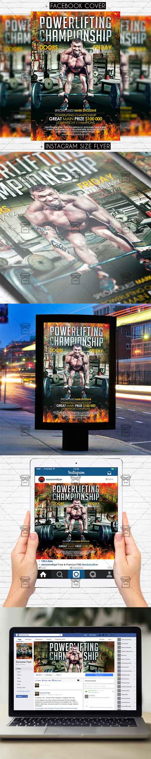 Flyer Template - Powerlifting