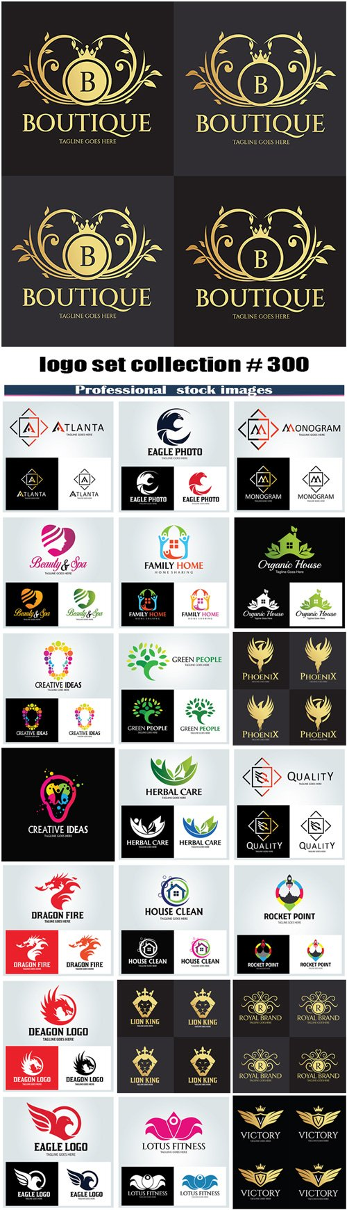 logo set collection # 300