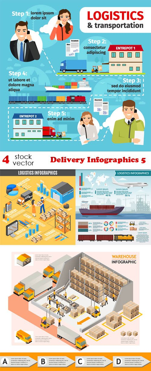 Vectors - Delivery Infographics 5