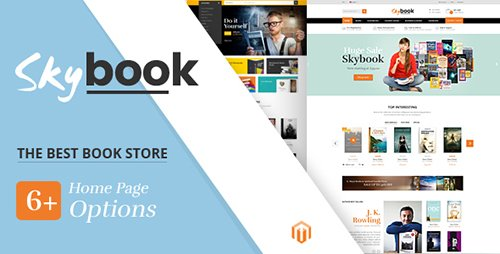 ThemeForest - SkyBook v1.0 - Book Shop Responsive Magento Theme - 19317334