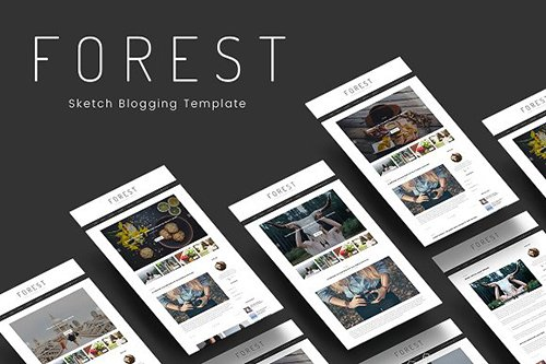 Forest - Minimal Blogging Template - CM 1255952