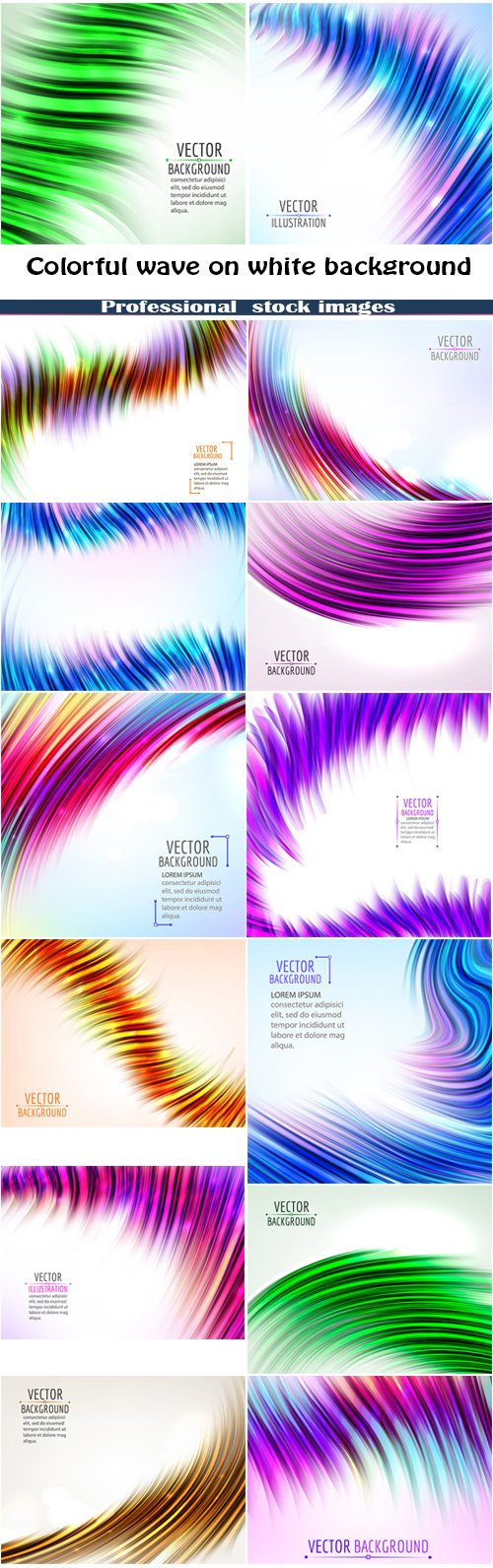 Abstract colorful wave on white background