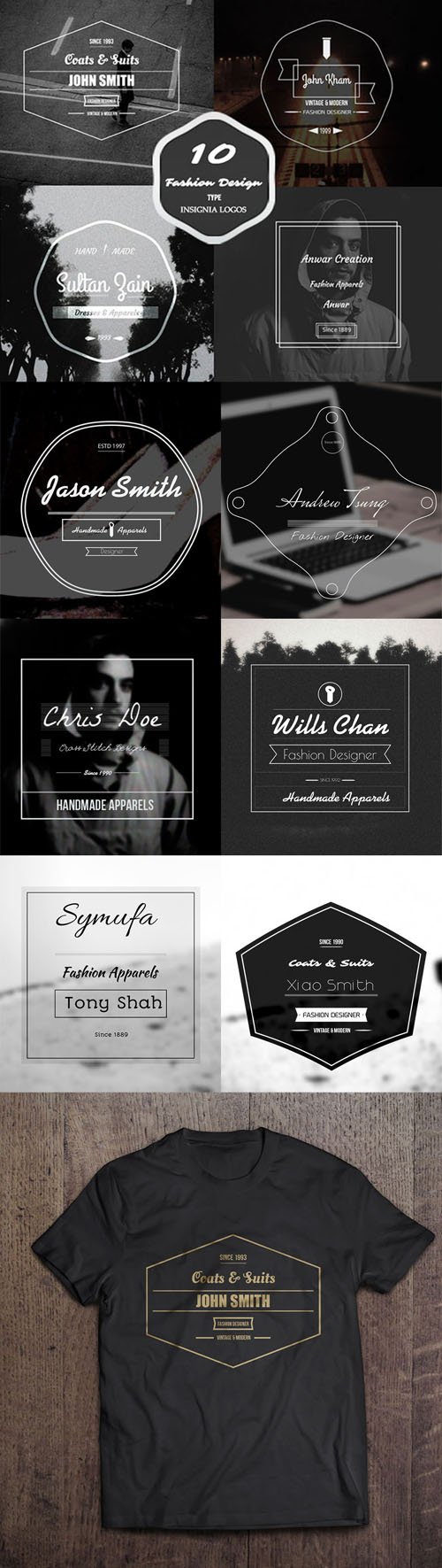 10 Fashion Vintage Badges For Your Projects (AI/EPS/PSD)