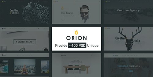 ThemeForest - Orion v1.0 - Creative Multi-Purpose PSD Template - 16792174