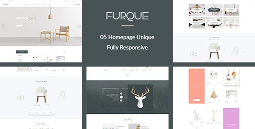 ThemeForest - FURQUE v1.0 - Creative Multiconcept Furniture Store PSD Template - 16101804