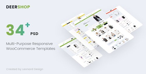 ThemeForest - DeerShop v1.0 - Multi-Purpose Responsive Ecommerce PSD Template - 19237031