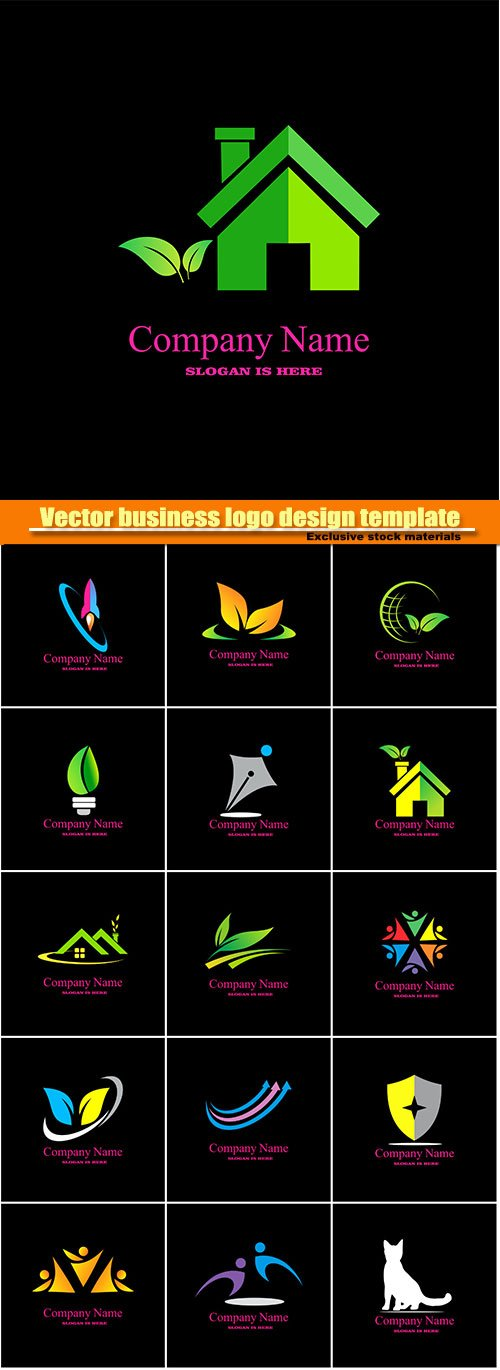 Vector business logo design template