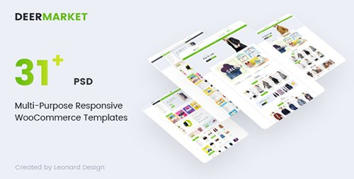 ThemeForest - DeerMarket v1.0 - Multi-Purpose Responsive Ecommerce PSD Template - 19300609
