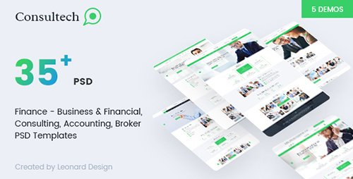 ThemeForest - Consultech v1.0 - Multipurpose Business & Financial, Consulting, Accounting, Broker Psd Templates - 19342610