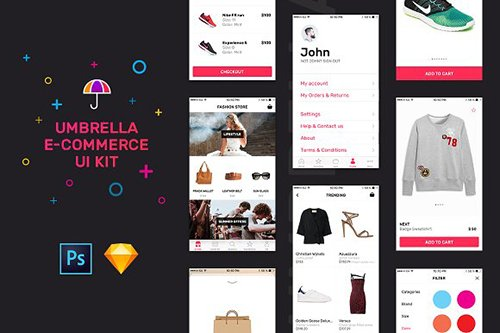 Umbrella iOS e-Commerce UI Kit - CM 1123746