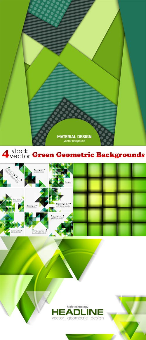 Vectors - Green Geometric Backgrounds