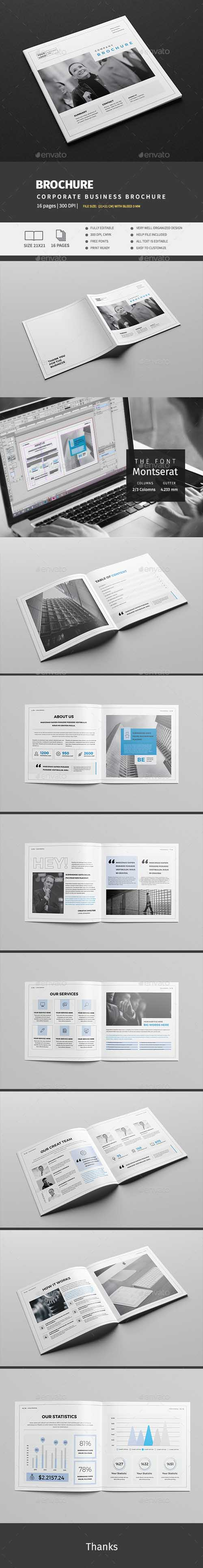 Corporate Business Square Brochure 17706350