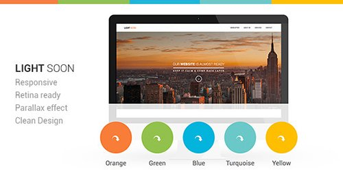 ThemeForest - Light Soon Responsive Coming Soon Template (Update: 12 February 17) - 5780425
