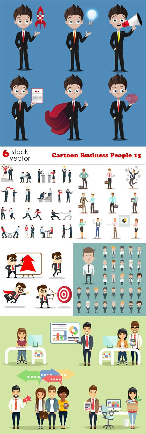 Vectors - Cartoon Business People 15