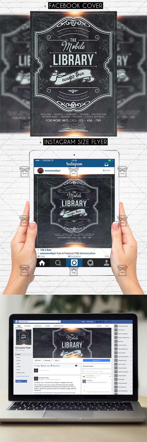 Flyer Template - Mobile Library