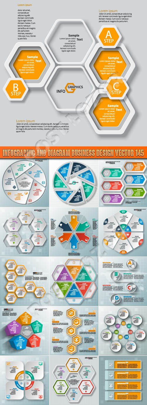 Infographic and diagram business design vector 145