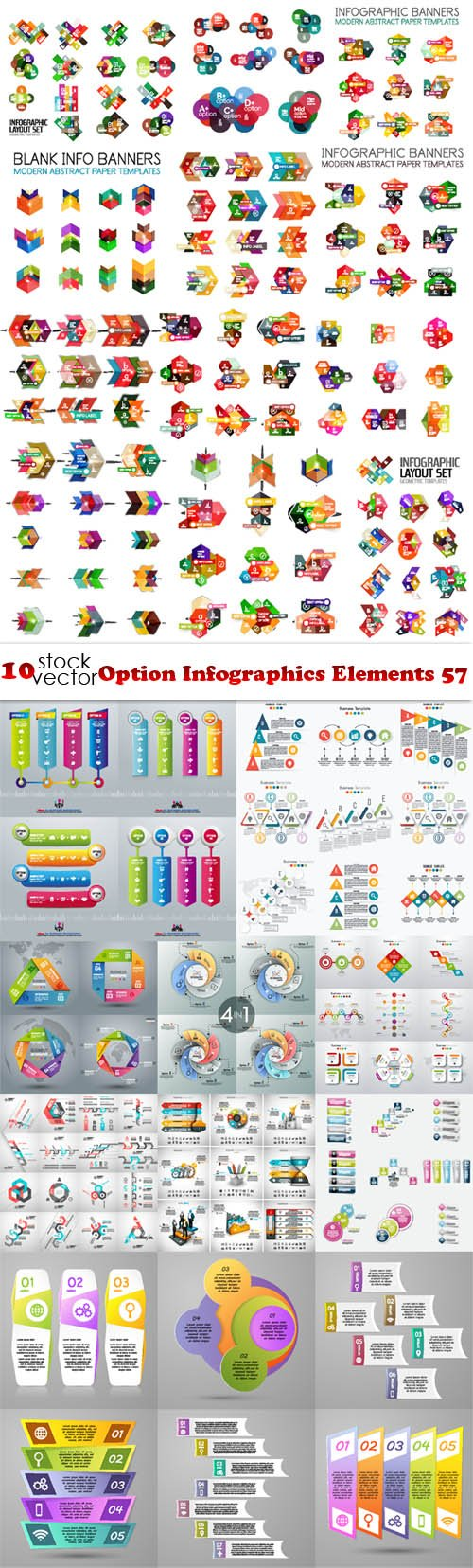 Vectors - Option Infographics Elements 57