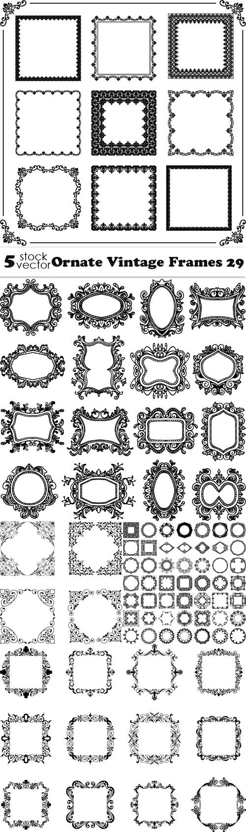 Vectors - Ornate Vintage Frames 29