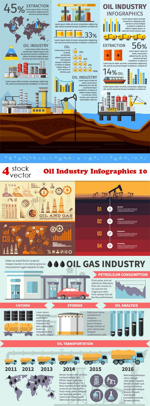 Vectors - Oil Industry Infographics 10