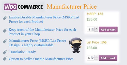 CodeCanyon - WooCommerce Manufacturer Price v1.9 - 7754610