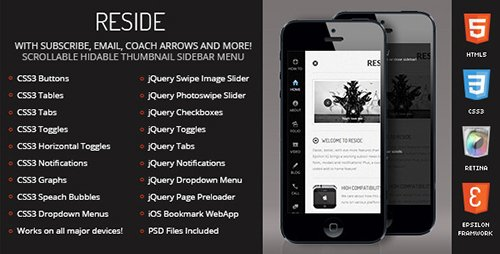 ThemeForest - Reside Mobile Retina | HTML5 & CSS3 and iWebApp (Update: 6 February 17) - 4348772
