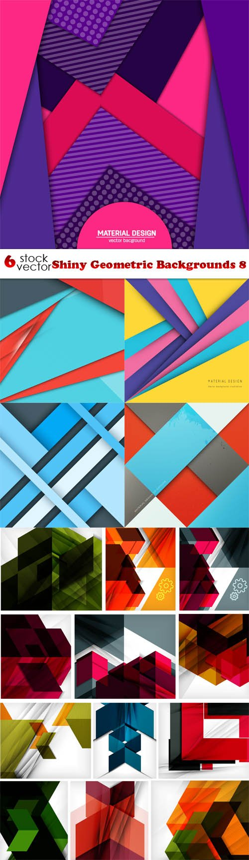 Vectors - Shiny Geometric Backgrounds 8