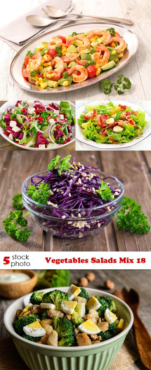 Photos - Vegetables Salads Mix 18