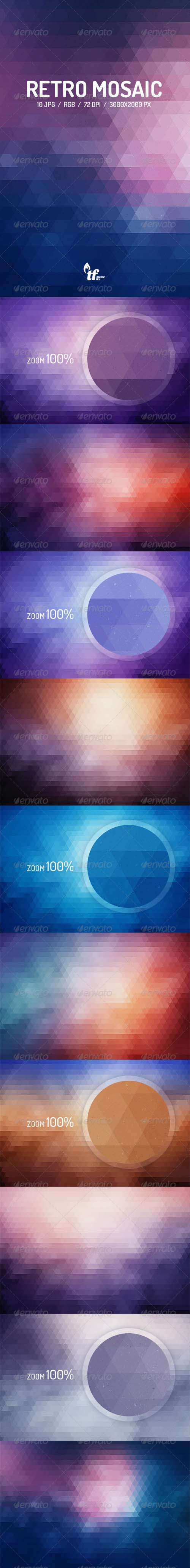 Retro Mosaic Backgrounds 8748146