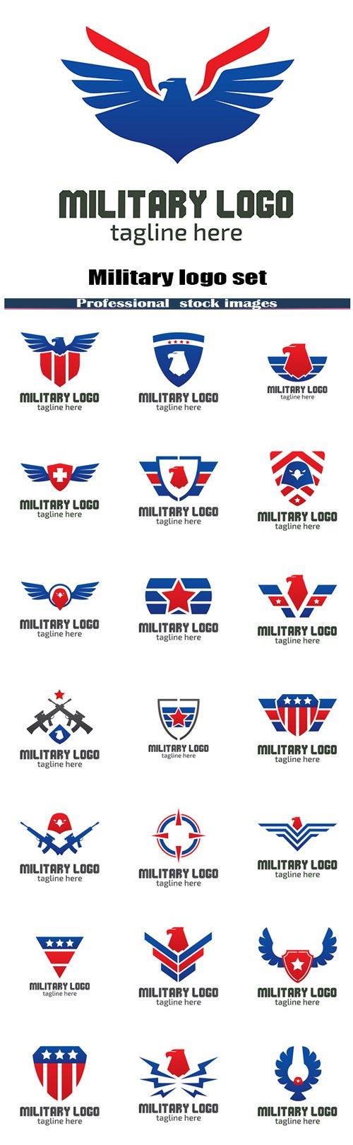 Military logo set