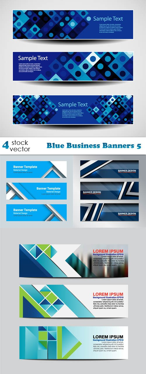 Vectors - Blue Business Banners 5