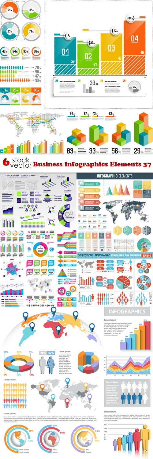 Vectors - Business Infographics Elements 37