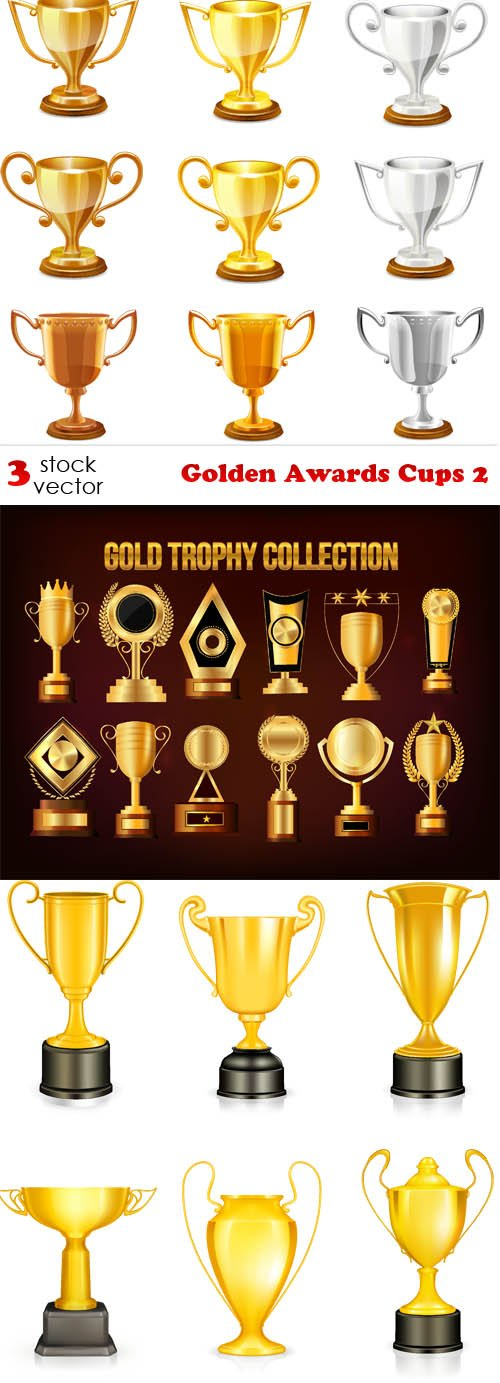 Vectors - Golden Awards Cups 2
