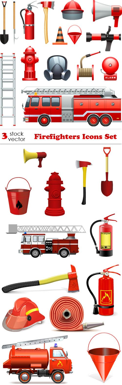 Vectors - Firefighters Icons Set