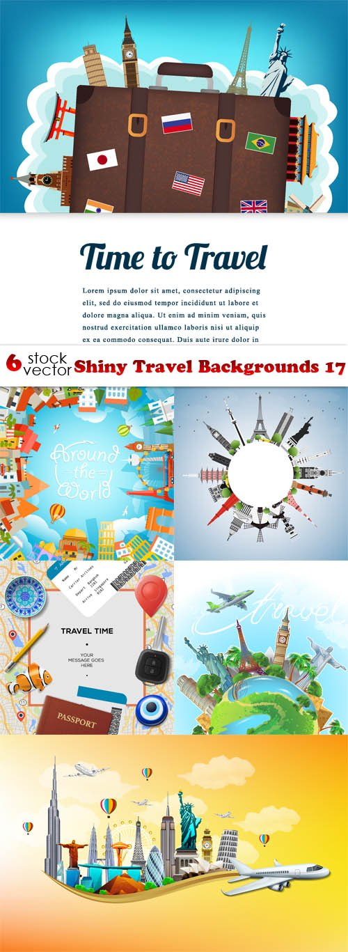 Vectors - Shiny Travel Backgrounds 17