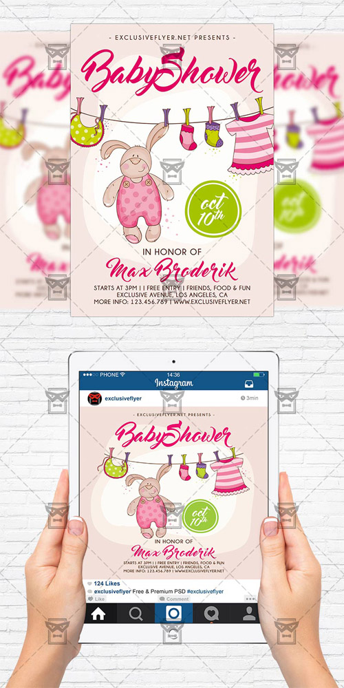 graphics flyer template instagram size flyer baby shower vol 5 scripts nulled scriptznull nl. Black Bedroom Furniture Sets. Home Design Ideas