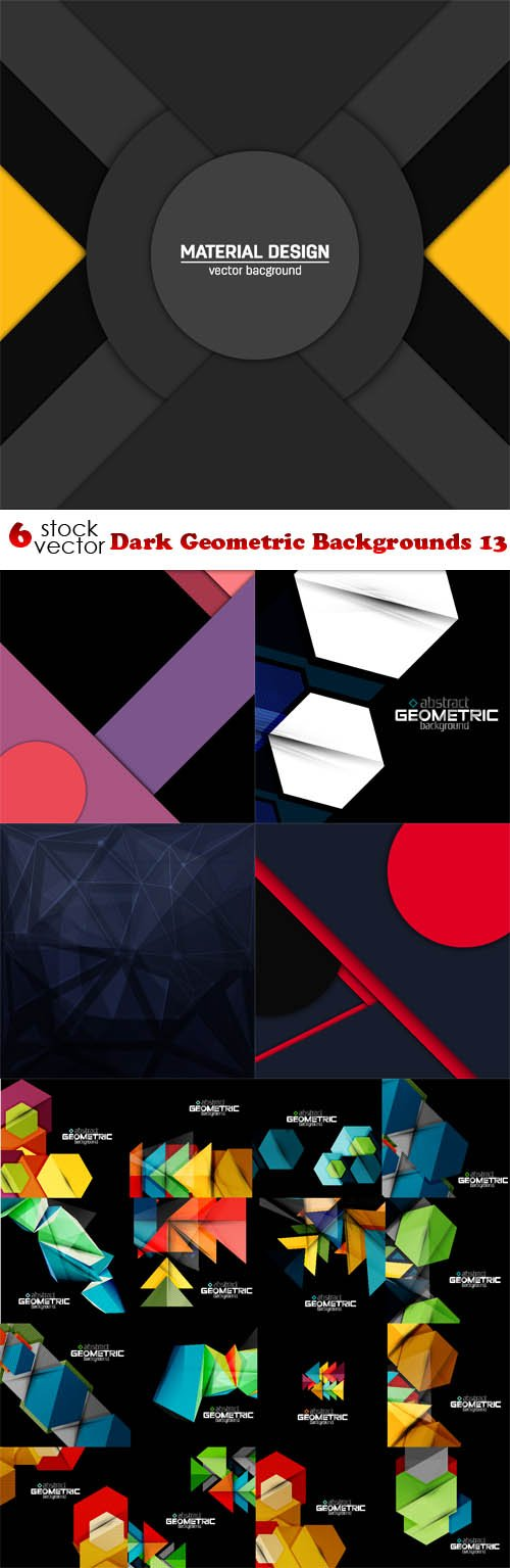 Vectors - Dark Geometric Backgrounds 13