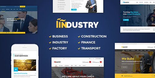 ThemeForest - Industry v2.8 - Business, Factory, Construction, Transport & Finance WordPress Theme - 16510989