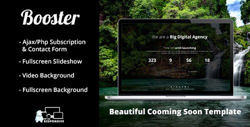 ThemeForest - Booster - Responsive Coming Soon Template (Update: 24 June 14) - 8046947